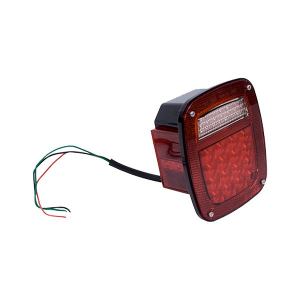 Rugged Ridge® - Driver Side Chrome/Red LED Tail Light