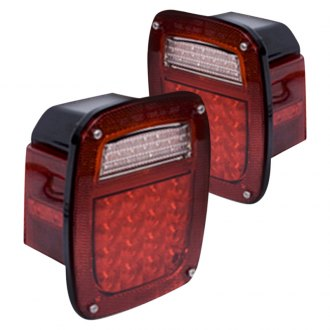 Rugged Ridge® - Chrome/Red LED Tail Lights
