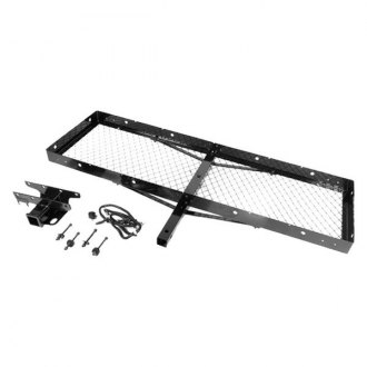 Rugged Ridge® - Class 1 Black Trailer Hitch with Receiver Opening and Cargo Rack
