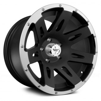 Rugged Ridge® - Aluminum Wheel 17X9, 12mm Offset, 5 On 5, Black With Machined Lip