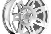 "Rugged Ridge® - Aluminum Wheel 17""X9"", 12mm Offset, 5 On 5, Limited Edition, Hyper Silver"