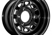 Rugged Ridge® - D Window Steel Wheel, 15X8, 5 On 4.5 Bolt Pattern, 3.75 Backspacing, Black
