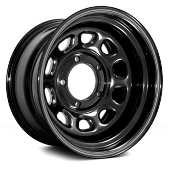 Rugged Ridge® - D Window Steel Wheel, 15X10, 5 On 4.5 Bolt Pattern, 3.75 Backspacing, Black