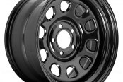 Rugged Ridge® - Steel Wheel D Window, 17X9, 5 On 5 Bolt Pattern, 4.5 Backspacing, Black
