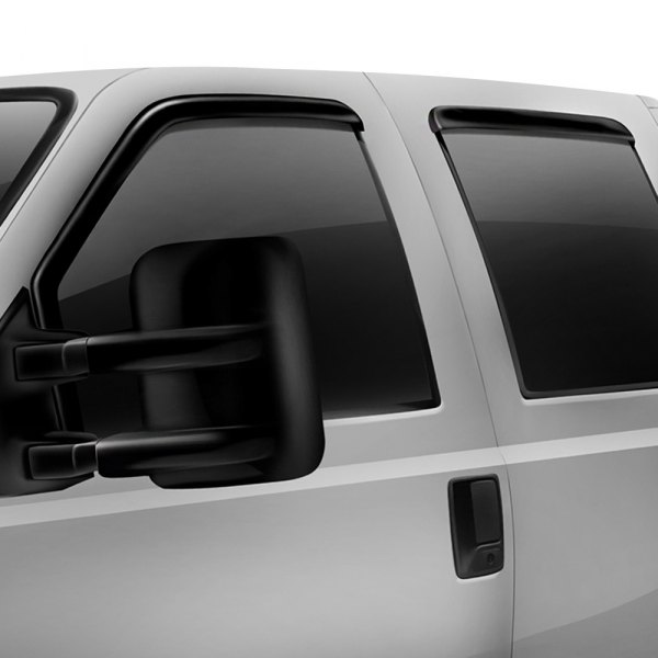 Image may not reflect your exact vehicle! Rugged Ridge® - In-Channel Matte Black Window Deflectors