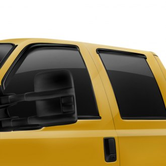 Rugged Ridge® - Tape-On Smoked Acrylic Front and Rear Window Deflectors