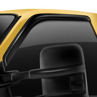 Rugged Ridge® - Tape-On Smoked Acrylic Front Window Deflectors