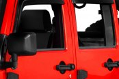 Image may not reflect your exact vehicle! Rugged Ridge® - Window Rain Deflectors