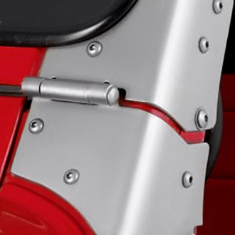 Rugged Ridge® - Windshield Hinges, Satin Stainless Steel