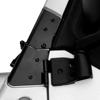 Rugged Ridge® - Windshield Hinges, Black
