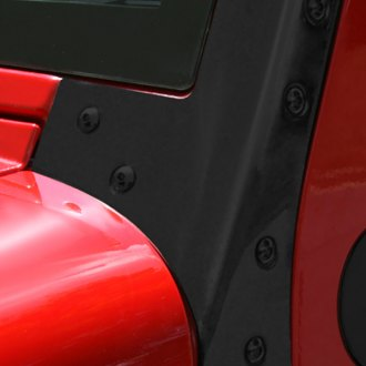Rugged Ridge® - Windshield Hinges, Black Powdercoated