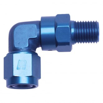 Russell® - 90° Female AN to Male Swivel NPT Adapter Fitting