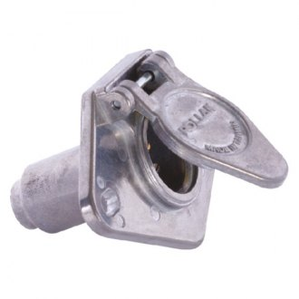 RV Designer® - Die-Cast Metal 6-Way Trailer Connector Socket with Concealed Terminals
