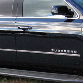 2016 Chevy Suburban Chrome Body Side Moldings - CARiD.com