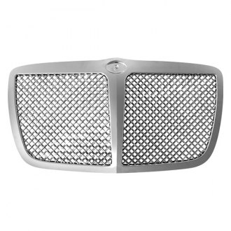 SAA® - 1-Pc Chrome Mesh Main Grille with Center Vertical Bar