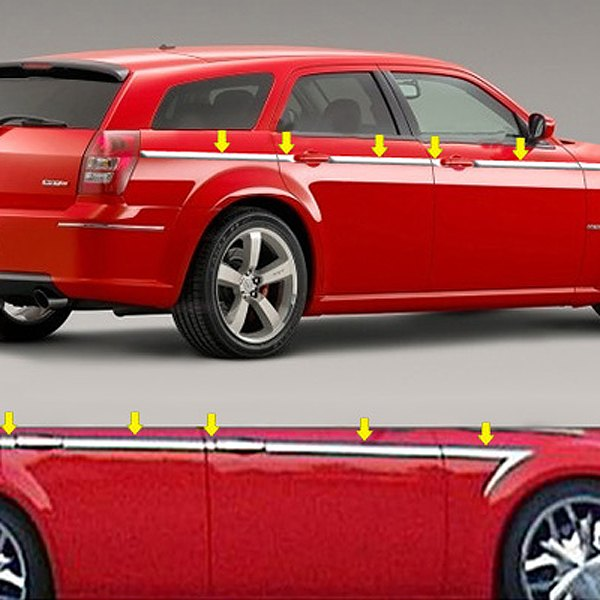 Saa dodge magnum 2005 i type polished body side moldings - Dodge magnum interior accessories ...