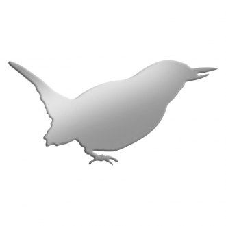 SAA® - Stainless Steel Decal with Small Bird