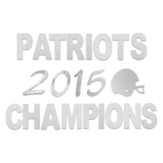 SAA® - Stainless Steel Decal with Patriots 2015 Champions and Helmet