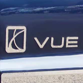 SAA® - Stainless Steel Emblem with Vue Lettering