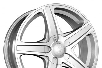 "SACCHI® - S48 Hyper Silver with Machined Face (17"" x 7"", +42 Offset, 5x114.3 Bolt Pattern, 72.62mm Hub)"