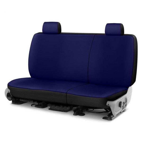 Neoprene Fabric Saddleman Custom Made Rear Bench Seat Cover Automotive Innovations S 19995-03 Black//Blue