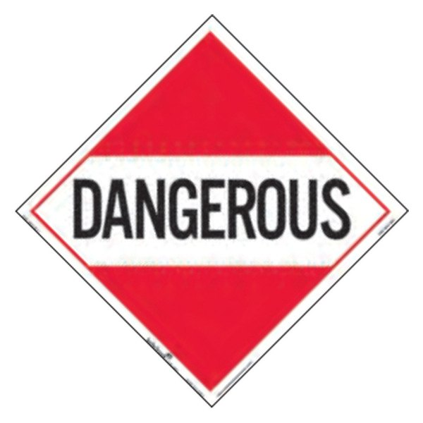 Safetruck d o t hazardous placard decal - Stickers placard coulissant ...