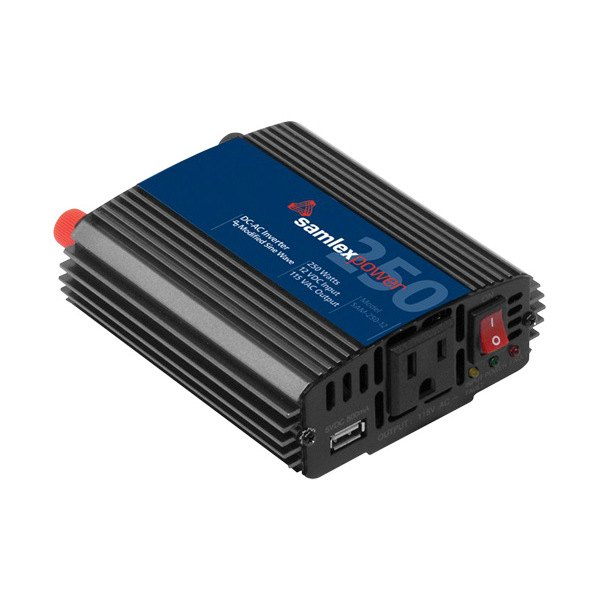 Samlex® - SAM Series Modified Sine Wave Power Inverter (Input: 12 VDC, Output: 115 VAC, 250W)