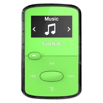 SanDisk® - Clip Jam 8 Gb Green Micro USB 2.0 Plastic Ultra Small MP3 Player