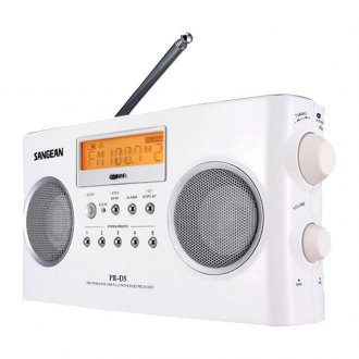 Sangean® - Digital Portable Stereo Receiver with AM/FM Radio (White)