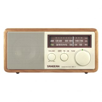 Sangean® - Wood Cabinet AM/FM Table Top Radio