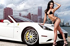 SAVINI® - SV-25 Custom Painted on Ferrari California