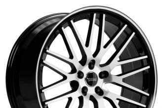 "SAVINI® - BM-4 Black with Machined Face and Stripe (20"" x 8.5"", +15 to +50 Offsets, 5x108-120.65 Bolt Patterns, 57.1-87mm Hubs)"
