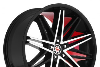 "SCARLET® - SW1-M SCARLETT Flat Black with Machined Face and Red Inner (19"" x 8.5"", +35 Offset, 5x114.3 Bolt Pattern, 74.1mm Hub)"