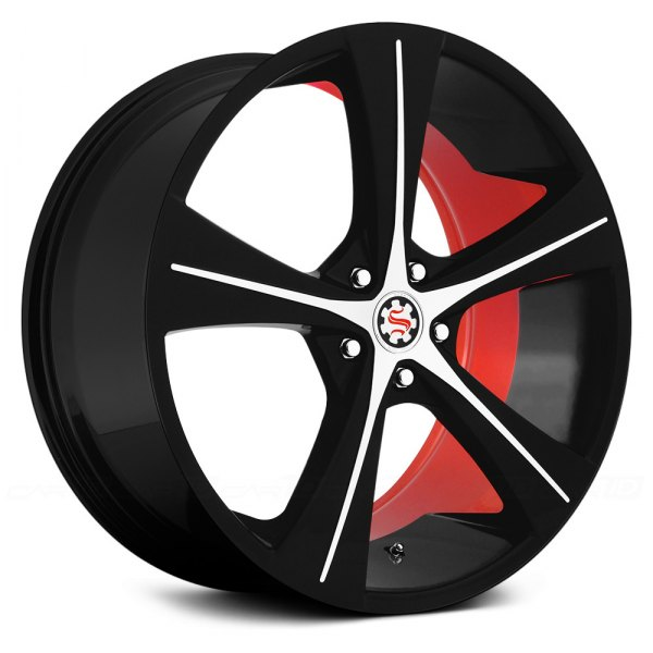 SCARLET® - SW4-M LOREN Flat Black with Machined Face and Red Inner