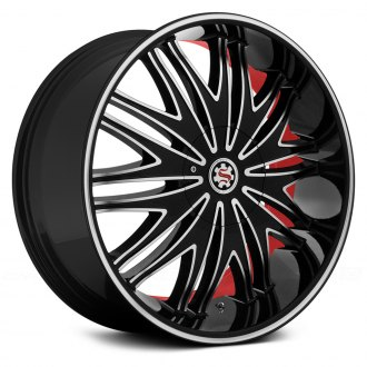 SCARLET® - SW7-M BARDO Satin Black with Machined Face, Pinstripe and Red Inner