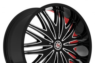 SCARLET® - SW7-M BARDO Satin Black with Machined Face and Red Inner