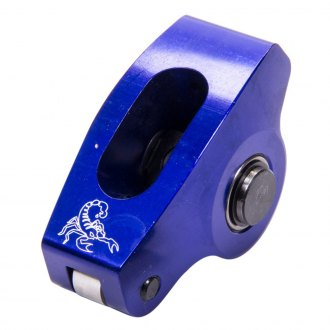 "Scorpion Racing® - 5/16"" Blue Race Series Single Rocker Arm with Washer, Pedestal and U-Channel"