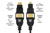 Scosche® - 6 ft HDMI Cable with Micro HDMI Adapter