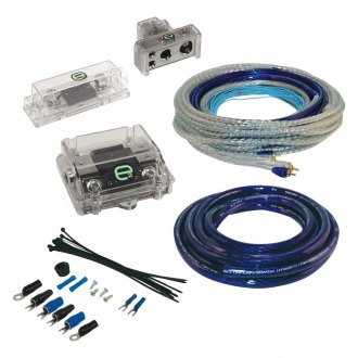 Scosche® - E2 Series 0/4 Gauge Dual Amplifier Wiring Kit