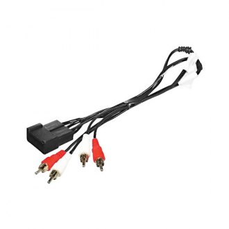 Scosche® - Wiring Harness with OEM Plugs and Amplifier Input Connector with RCA