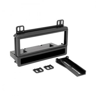 Scosche® - Single DIN Black Stereo Dash Kit with Pocket and Spacers