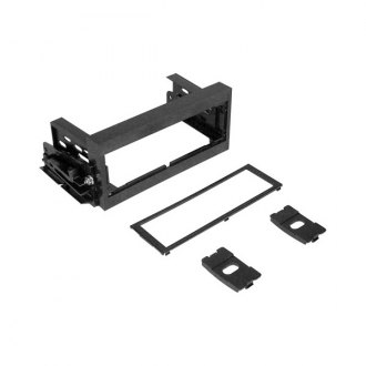 Scosche® - Single DIN Black Stereo Dash Kit with ISO Brackets and Trim Plate