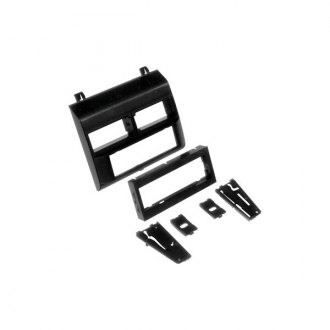 Scosche® - Single DIN Black Stereo Dash Kit with Mounting Panel
