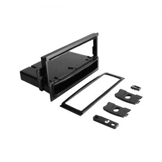 Scosche® - Single DIN Black Stereo Dash Kit with 2 CD Pocket