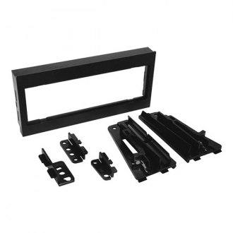 Scosche® - Single DIN Black Multi-Purpose Stereo Dash Kit with Brackets
