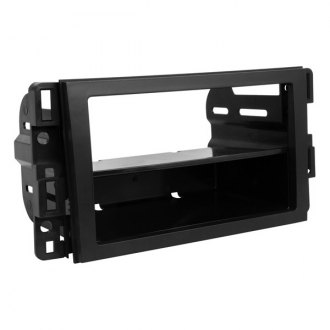 Scosche® - Single / Double DIN Black Stereo Dash Kit with Optional Storage Pocket
