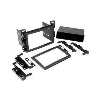 Scosche® - Single / Double DIN Black Stereo Dash Kit with Pocket