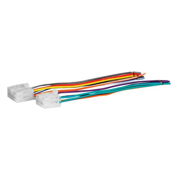 scosche 174 toyota corolla 1988 wiring harness with oem radio plugs