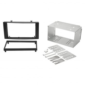 Scosche® - Double DIN Black Stereo Dash Kit with Metal Cage