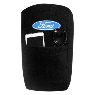 Seat Armour® - Black Cotton/Terry Velour Console Cover with Ford Logo